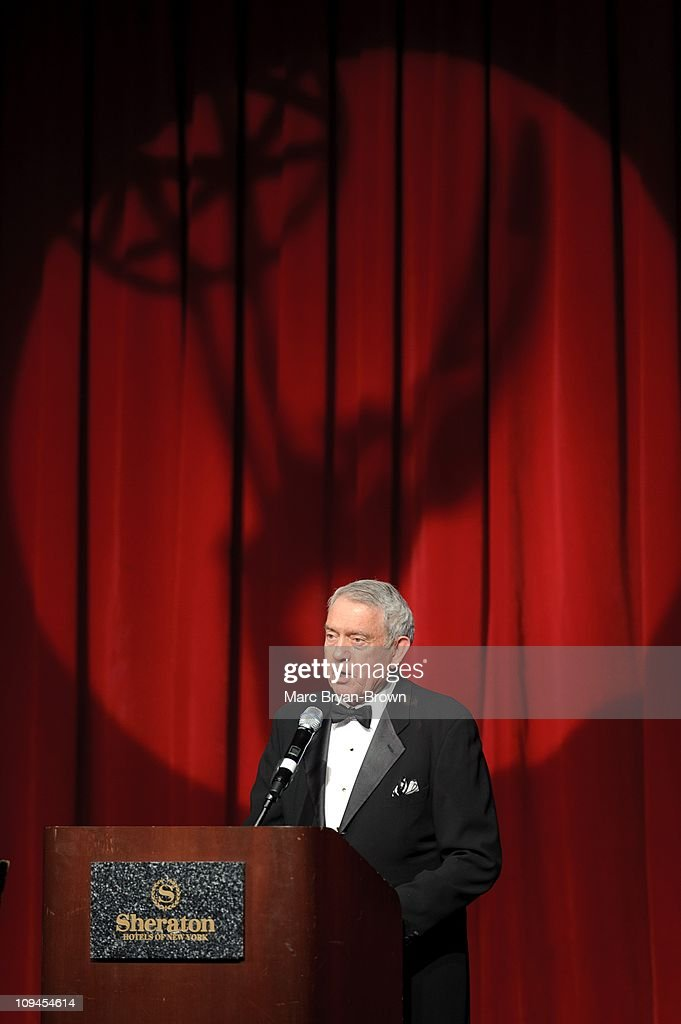 <a gi-track='captionPersonalityLinkClicked' href=/galleries/search?phrase=Dan+Rather&family=editorial&specificpeople=209204 ng-click='$event.stopPropagation()'>Dan Rather</a> attends the 2011 National Academy of Television Arts & Sciences Trustees Emmy Award Presentation at the Sheraton New York Hotel & Towers on February 25, 2011 in New York City.