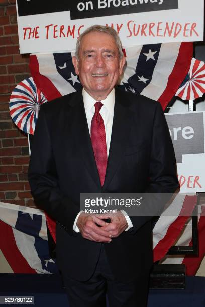 Dan Rather attends 'The Terms Of My Surrender' Broadway Opening Night at Belasco Theatre on August 10 2017 in New York City