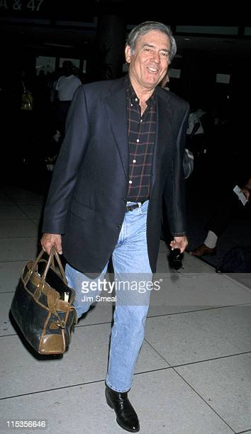 Dan Rather during Dan Rather Arriving at LAX From New York October 2 1998 at Los Angeles International Airport in Los Angeles California United States