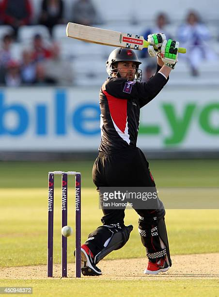 Dan Redfern of Leicestershire Foxes during The Natwest T20 Blast match between Durham Jets and Leicestershire Foxes at The Emirates Durham ICG on...