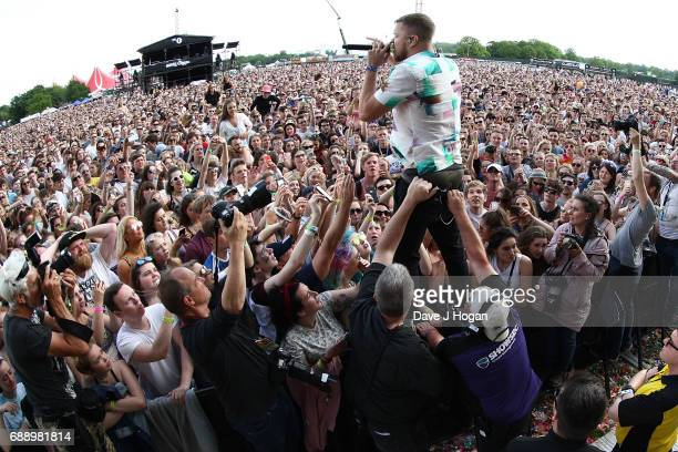 Dan Reynold of the band Imagine Dragons attends Day 1 of BBC Radio 1's Big Weekend 2017 at Burton Constable Hall on May 27 2017 in Hull United Kingdom