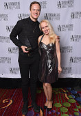 Dan Reynolds and April Anderson attendthe Songwriters Hall of Fame 45th Annual Induction And Awards at Marriott Marquis Theater on June 12 2014 in...
