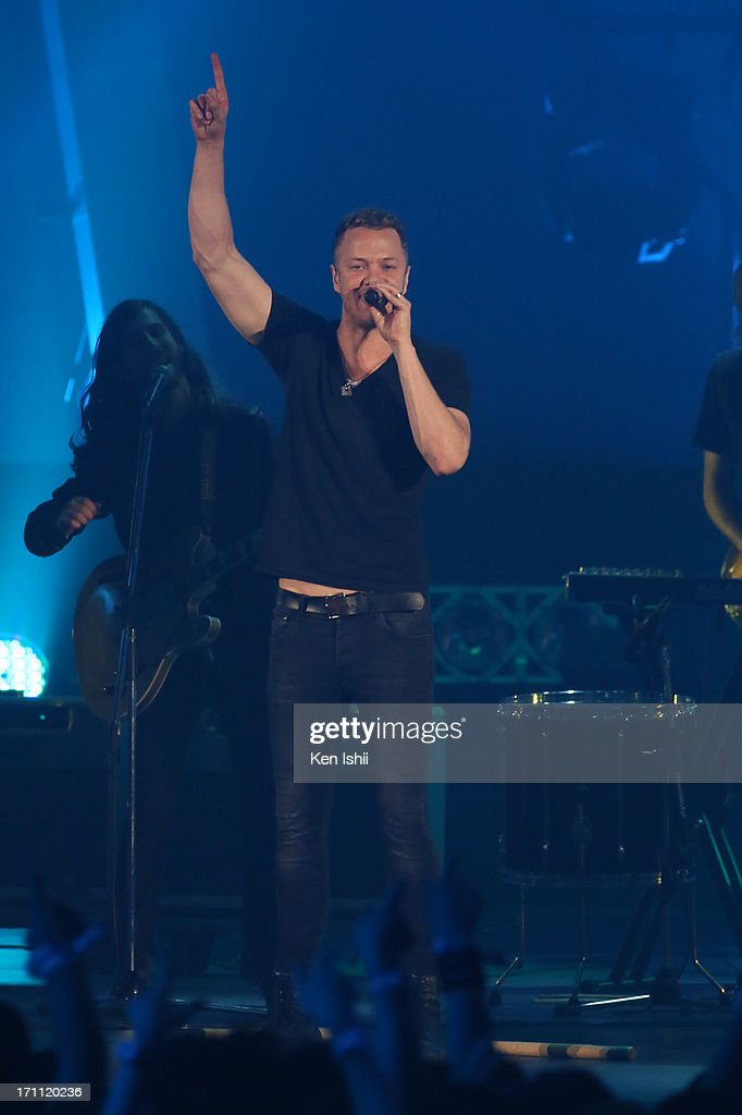 Dan Reynolds of Imagine Dragons perfoms onstage during the MTV VMAJ 2013 at Makuhari Messe on June 22, 2013 in Chiba, Japan.