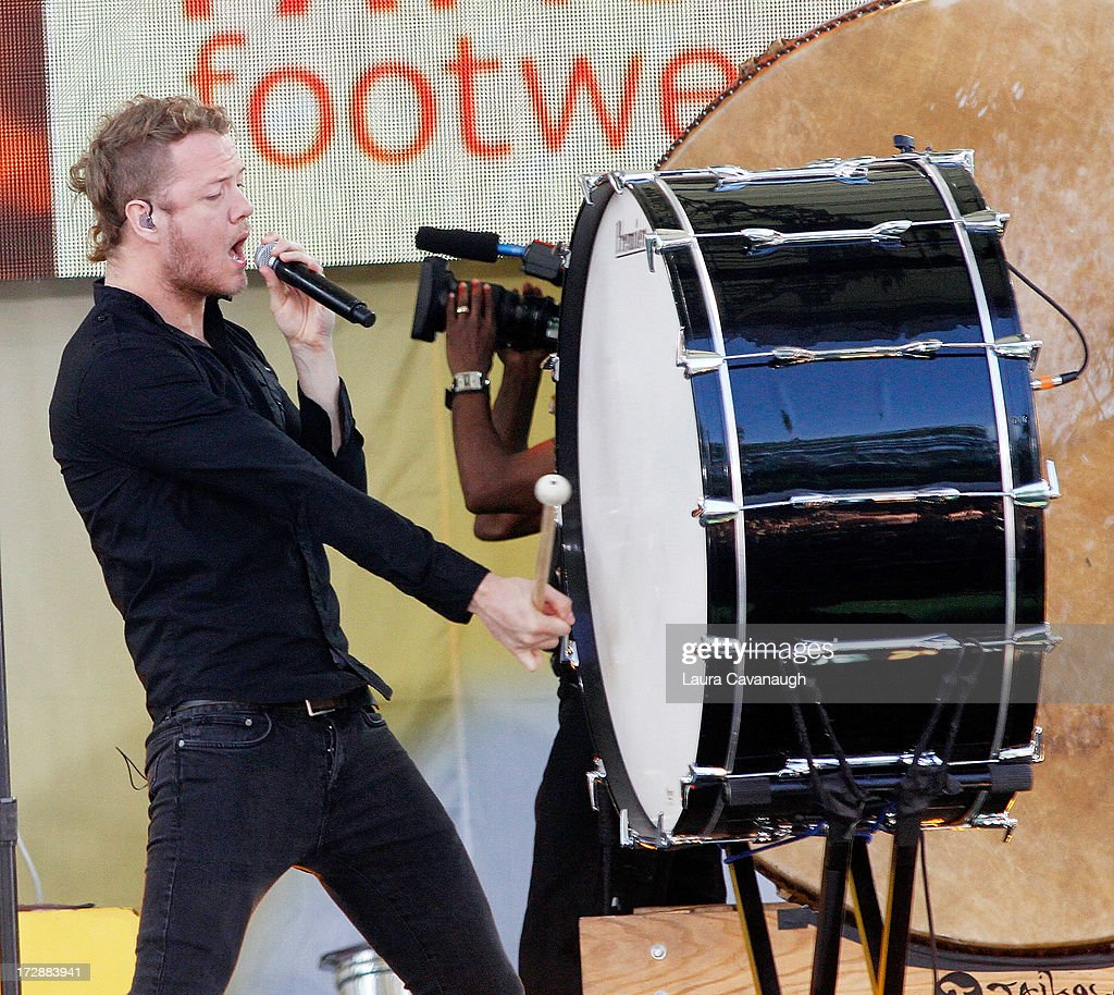 Dan Reynolds of Imagine Dragons performs at Rumsey Playfield on ABC's 'Good Morning America' on July 5, 2013 in New York City.