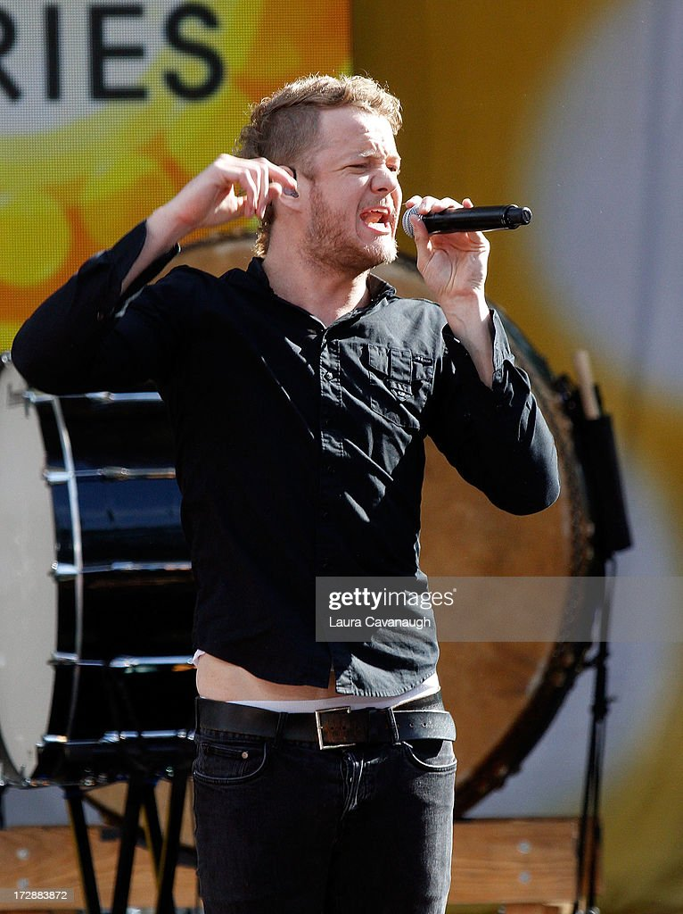 Dan Reynolds of Imagine Dragons performs at Rumsey Playfield on July 5, 2013 in New York City.