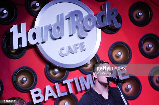 Dan Reynolds of Imagine Dragons performs during Hard Rock Baltimore Grand Reopening With Special Performance By Imagine Dragons at Hard Rock Cafe...
