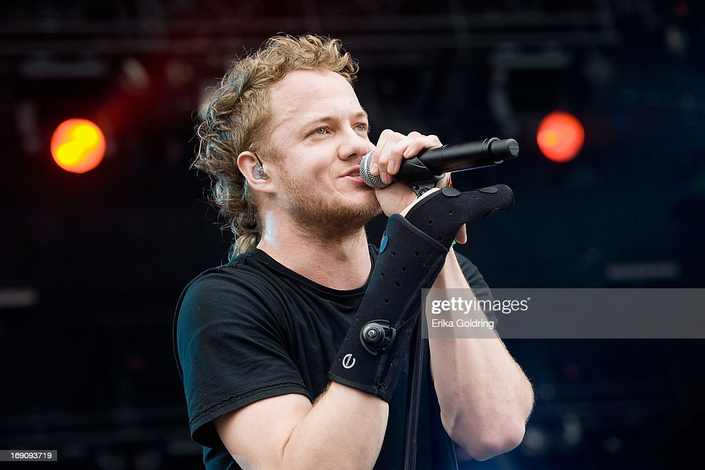<a gi-track='captionPersonalityLinkClicked' href=/galleries/search?phrase=Dan+Reynolds&family=editorial&specificpeople=8995077 ng-click='$event.stopPropagation()'>Dan Reynolds</a> of Imagine Dragons performs during the 2013 Hangout Music Festival on May 19, 2013 in Gulf Shores, Alabama.
