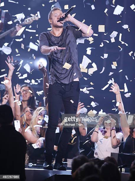 Dan Reynolds of Imagine Dragons performs onstage during the 2014 Billboard Music Awards held at MGM Grand Garden Arena on May 18 2014 in Las Vegas...