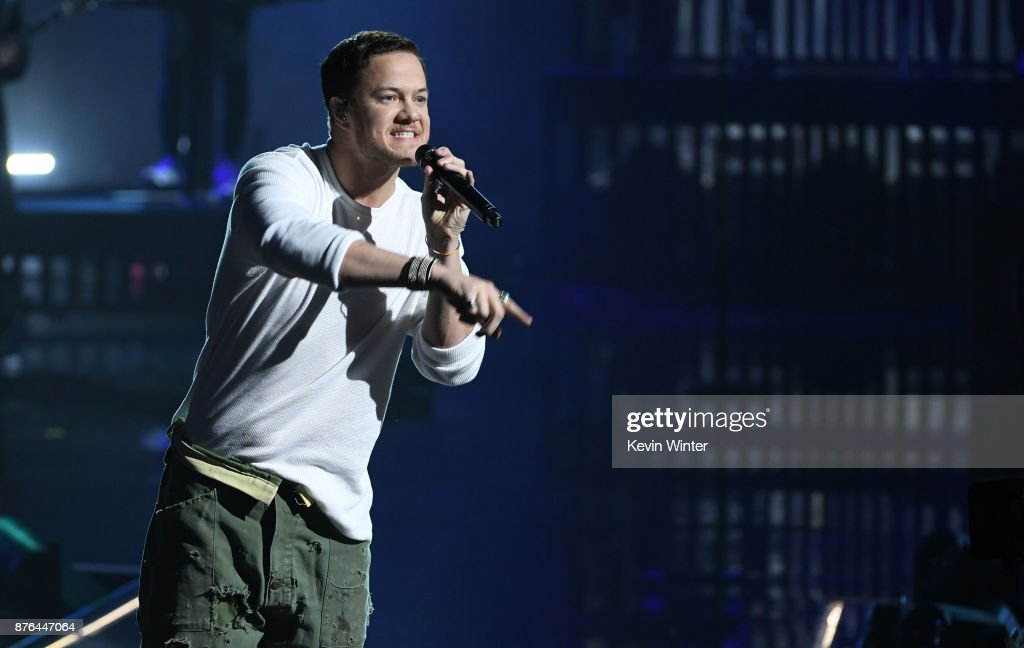 Dan Reynolds of music group Imagine Dragons performs onstage during the 2017 American Music Awards at Microsoft Theater on November 19, 2017 in Los Angeles, California.