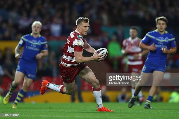 Dan Sarginson of Wigan during the First Utility Super League Final between Warrington Wolves and Wigan Warriors at Old Trafford on October 8 2016 in...