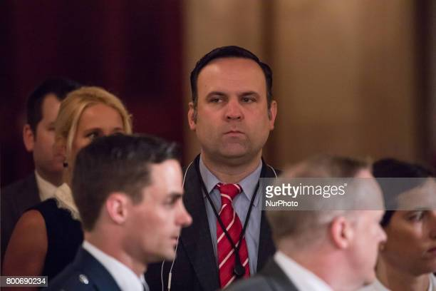 Dan Scavino White House social media director was present for President Donald Trump's signing of the Department of Veterans Affairs Accountability...