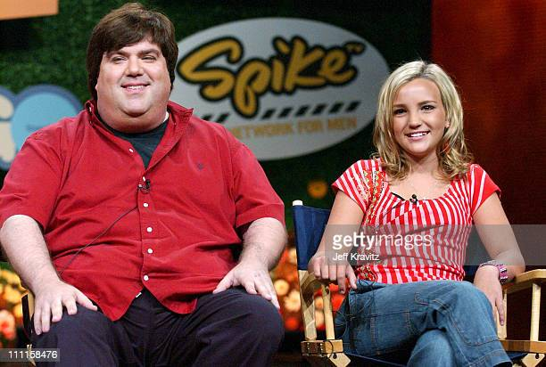 Dan Schneider and Jamie Lynn Spears during MTV Networks TCA July 23 2004 at Century Plaza in Los Angeles California United States
