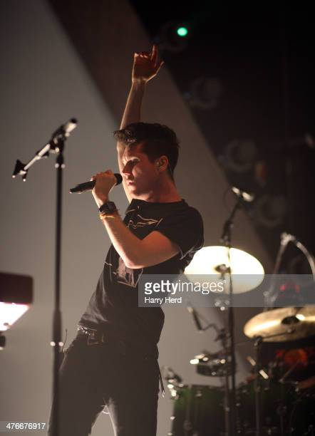 Dan Smith of Bastille performs at BIC on March 4 2014 in Bournemouth England