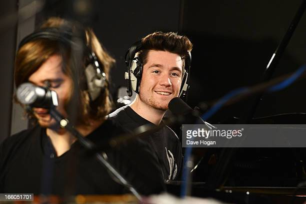 Dan Smith of Bastille performs for a Biz Session to promote their new album 'Bad Blood' on February 26 2013 in London England