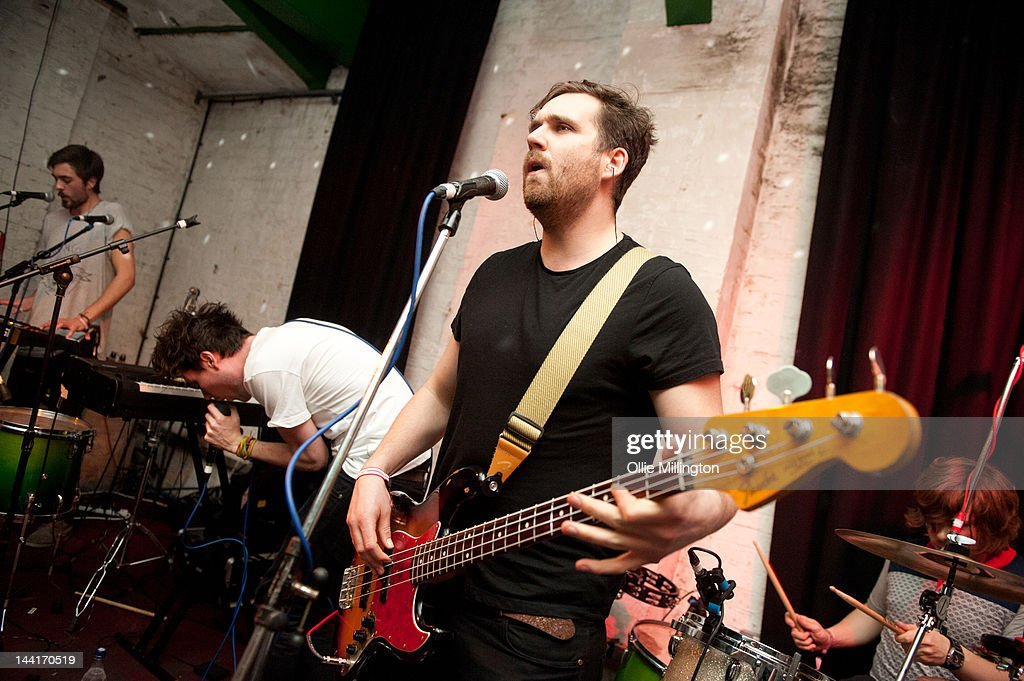 Dan Smith of Bastille performs on stage at Green Door Store during The Great Escape Festival on May 10, 2012 in Brighton, United Kingdom.