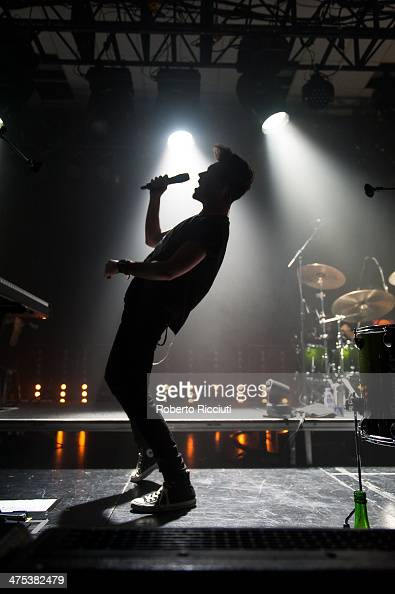 Dan Smith of Bastille performs on stage at The Corn Exchange on February 27 2014 in Edinburgh United Kingdom