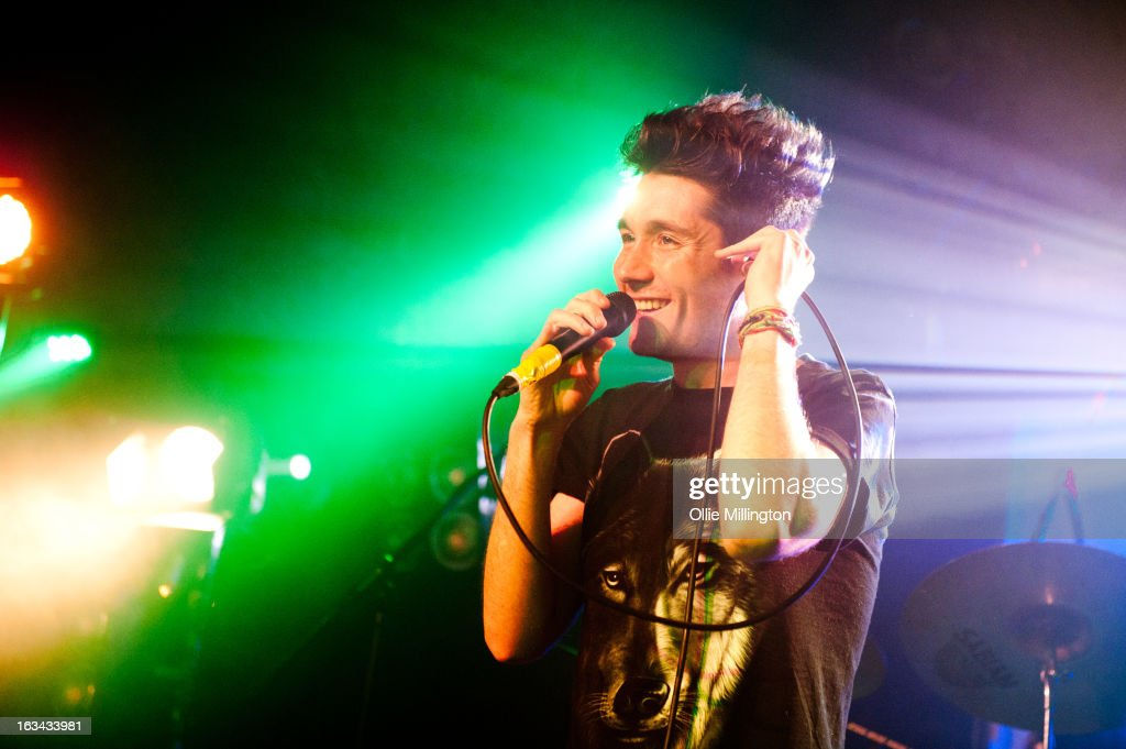 Dan Smith of Bastille performs the night before their debut album 'Bad Blood' charts in the UK at The Institute on March 9, 2013 in Birmingham, England.