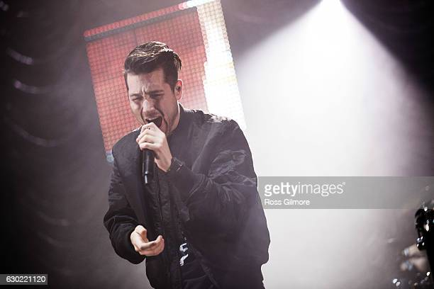 Dan Smith of the band Bastille performs at Clyde 1 Christmas Live at The SSE Hydro on December 18 2016 in Glasgow Scotland