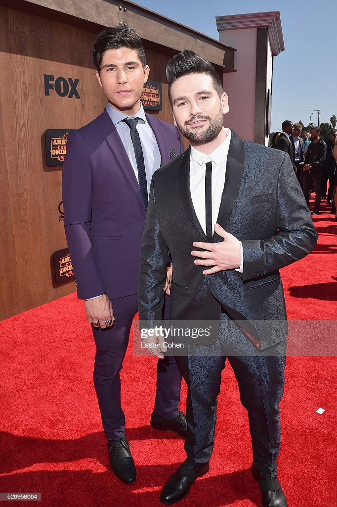 Dan Smyers (L) and Shay Mooney of Dan + Shay attend the 2016 American Country Countdown Awards at The Forum on May 1, 2016 in Inglewood, California.