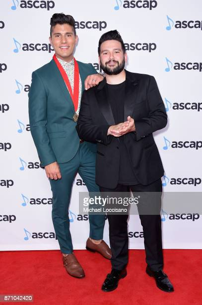 Dan Smyers and Shay Mooney of Dan Shay attend the 55th annual ASCAP Country Music awards at the Ryman Auditorium on November 6 2017 in Nashville...