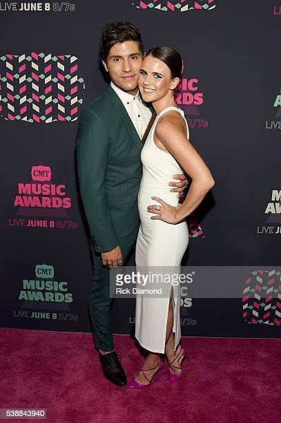 Dan Smyers of the musical duo Dan Shay and guest attend the 2016 CMT Music awards at the Bridgestone Arena on June 8 2016 in Nashville Tennessee