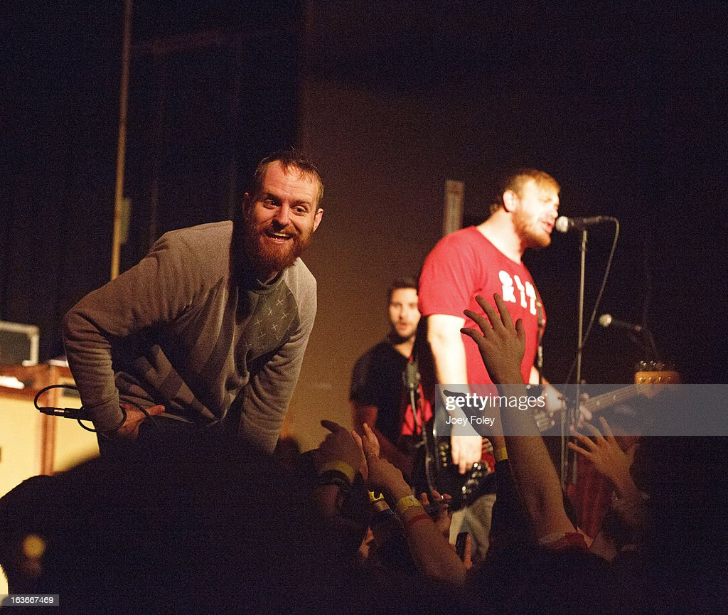 Dan 'Soupy' Campbell,Matt Brasch, and Josh Martin of The Wonder Years performs in concert at The Irving Theater on March 13, 2013 in Indianapolis, Indiana.