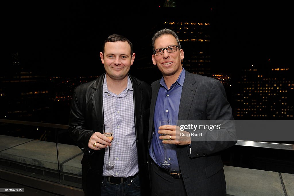 Dan Steinman and Christopher Woodrow attend the Worldview Entertainment 2012 Holiday Party at William Beaver House on December 6, 2012 in New York City.