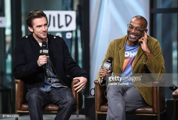 Dan Stevens and Bharat Nalluri attend the Build Series to discuss the new holiday film 'The Man Who Invented Christmas' at Build Studio on November...