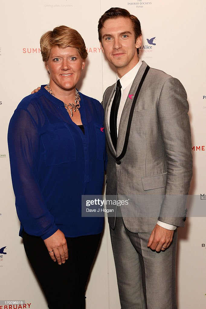 <a gi-track='captionPersonalityLinkClicked' href=/galleries/search?phrase=Dan+Stevens&family=editorial&specificpeople=678756 ng-click='$event.stopPropagation()'>Dan Stevens</a> and <a gi-track='captionPersonalityLinkClicked' href=/galleries/search?phrase=Clare+Balding&family=editorial&specificpeople=2055901 ng-click='$event.stopPropagation()'>Clare Balding</a> attend a gala screening of 'Summer In February' at The Curzon Mayfair on June 10, 2013 in London, England.