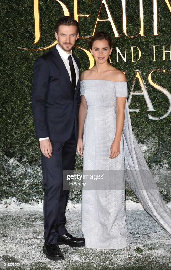 Dan Stevens and Emma Watson attend UK launch event for 'Beauty And The Beast' at Spencer House on February 23, 2017 in London, England.