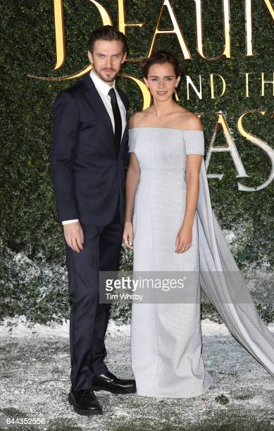 Dan Stevens and Emma Watson attend UK launch event for 'Beauty And The Beast' at Spencer House on February 23 2017 in London England