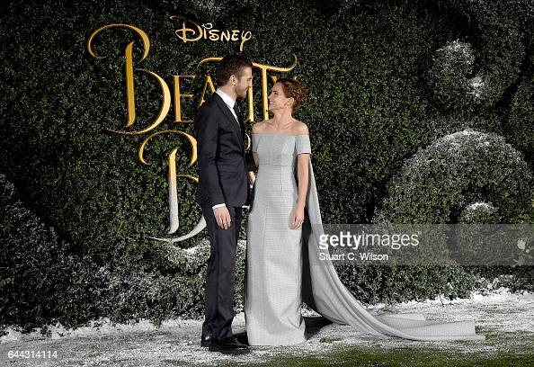 Dan Stevens and Emma Watson attend UK launch event for Disney's 'Beauty And The Beast' at Spencer House on February 23 2017 in London England