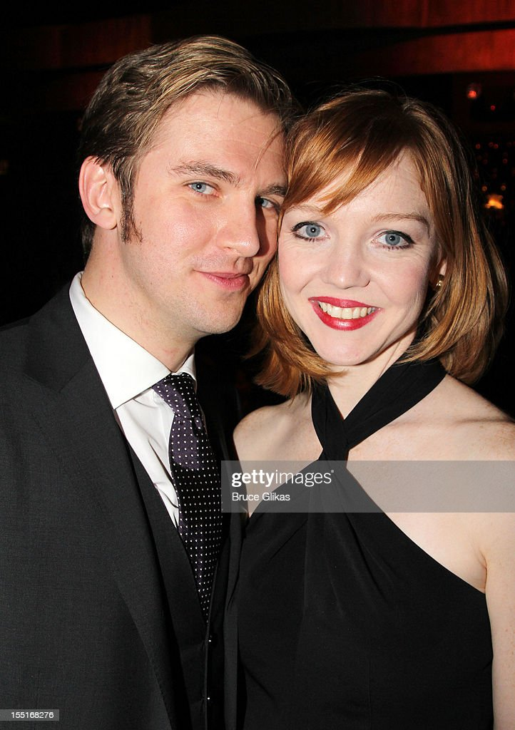 <a gi-track='captionPersonalityLinkClicked' href=/galleries/search?phrase=Dan+Stevens&family=editorial&specificpeople=678756 ng-click='$event.stopPropagation()'>Dan Stevens</a> and his wife Susie Steven attend the opening night after party for the revival of 'The Heiress' on Broadway at The Edison Ballroom on November 1, 2012 in New York City.