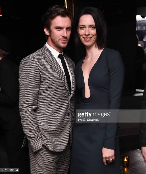 Dan Stevens and Rebecca Hall attend the After Party for Permission Sponsored by Heineken during 2017 Tribeca Film Festival at UpDown on April 22 2017...