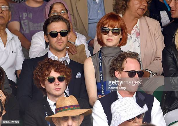 Dan Stevens and Susie Stevens attend day 13 of the Wimbledon Tennis Championships at Wimbledon on July 12 2015 in London England