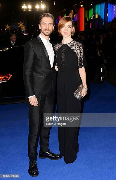 Dan Stevens and Susie Stevens attend the UK Premiere of 'Night At The Museum Secret Of The Tomb' at Empire Leicester Square on December 15 2014 in...