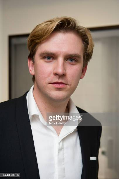 Dan Stevens attends private view of the Corinthia Artist in Residence exhibition 'Harbour' at Corinthia Hotel London on May 8 2012 in London England