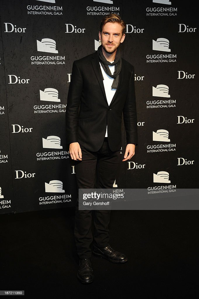 <a gi-track='captionPersonalityLinkClicked' href=/galleries/search?phrase=Dan+Stevens&family=editorial&specificpeople=678756 ng-click='$event.stopPropagation()'>Dan Stevens</a> attends the Guggenheim International Gala, made possible by Dior, Pre-party hosted by The Young Collector's Council on November 6, 2013 in New York City.