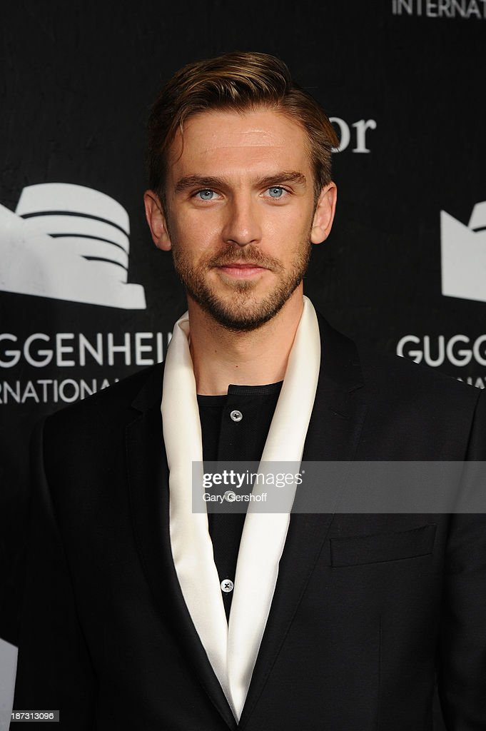 Dan Stevens attends the Guggenheim International Gala, made possible by Dior, at the Guggenheim Museum on November 7, 2013 in New York City.