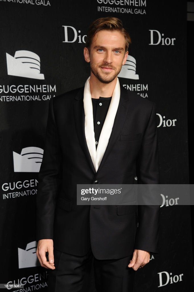 <a gi-track='captionPersonalityLinkClicked' href=/galleries/search?phrase=Dan+Stevens&family=editorial&specificpeople=678756 ng-click='$event.stopPropagation()'>Dan Stevens</a> attends the Guggenheim International Gala, made possible by Dior, at the Guggenheim Museum on November 7, 2013 in New York City.