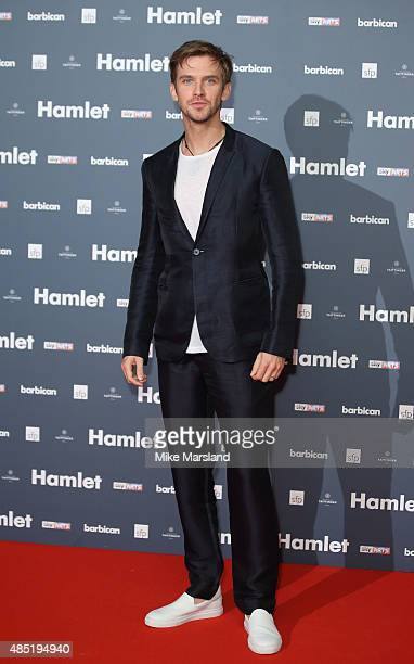 Dan Stevens attends the press night of 'Hamlet' at Barbican Centre on August 25 2015 in London England