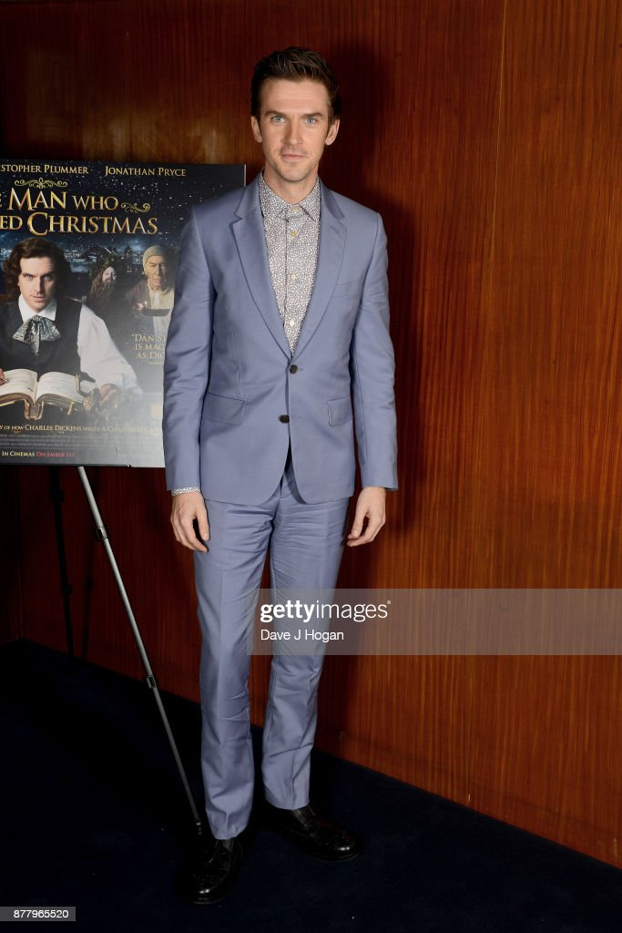 Dan Stevens attends the UK premiere of 'The Man Who Invented Christmas' at Curzon Cinema Mayfair on November 23, 2017 in London, England.