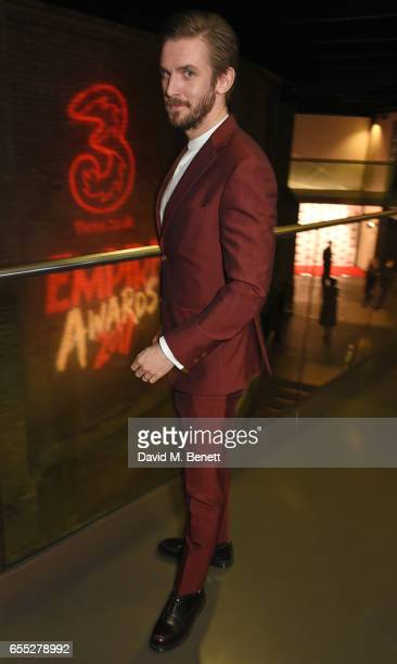 Dan Stevens poses in the winners room at the THREE Empire awards at The Roundhouse on March 19 2017 in London England
