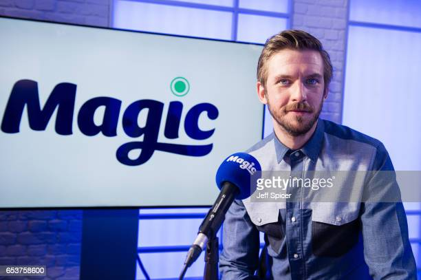 Dan Stevens visits the Magic Radio studio on March 16 2017 in London United Kingdom