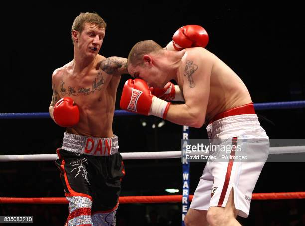 Dan Stewart in action against Johnny Greaves at the Oasis Leisure Centre Swindon