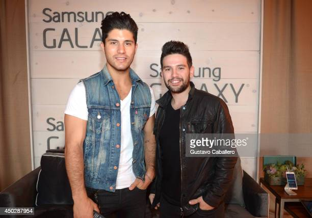 Dan Symers and Shay Mooney of Dan Shay at the Samsung Galaxy Artist Lounge at the 2014 CMA Music Festival on June 8 2014 in Nashville Tennessee
