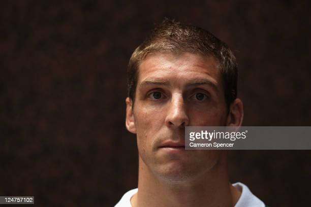 Dan Vickerman of the Wallabies poses during an Australia IRB Rugby World Cup 2011 media session at Crowne Plaza on September 13 2011 in Auckland New...