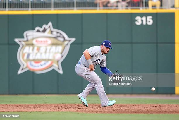 Dan Vogelbach is photographed during the Sonic Automotive TripleA Baseball All Star Game at BBT Ballpark on July 13 2016 in Charlotte North Carolina
