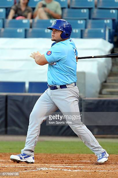 Dan Vogelbach of the Cubs at bat during the Florida State League game between the Daytona Cubs and the Tampa Yankees at George M Steinbrenner Field...