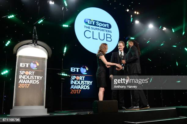 Dan Walker and Helen RichardsonWalsh present the Community Programme of the Year award in association with The Supporters Club to Our Parks Turn Up...